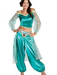 cheap -Princess Jasmine Cosplay Costume Christmas Halloween Carnival Oktoberfest New Year Festival / Holiday Halloween Costumes Solid Color