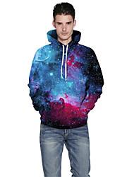 Men Realistic 3d Digital Universe Women Unisex Print Pullover Sports Outdoor Active Hoodie Hooded Baseball Uniform Jacket Inelastic Polyester Rainbow