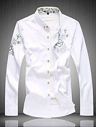 cheap -Men's Active Cotton Shirt - Solid Colored Print