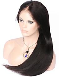 Unprocessed Virgin Brazilian Human Hair Yaki Straight Lace Front Wig Glueless Deep Parting 13x6 Front Lace Wig Italian Yaki Human Hair Wig