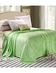 Tissé Plantes Bambou/Coton couvertures