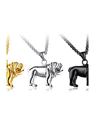 cheap -Men's Dog Animal Shape Metallic Personalized Classic Hip-Hop Fashion Pendant Necklace Titanium Steel Pendant Necklace Party New Baby Gift