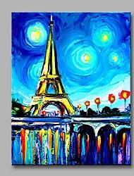 Недорогие -Эйфелева башня под звездами декор стен ручной росписью современных картин маслом современное произведение искусства стены