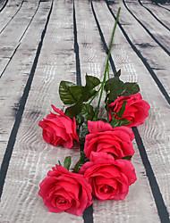 1 Une succursale Plastique Roses Arbre de Noël Fleurs artificielles