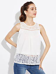 cheap -Women's Going out Plus Size Tank Top - Patchwork Lace / Summer