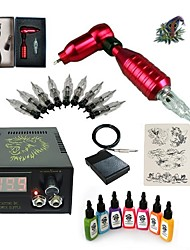 cheap -Basekey High Born Tattoo Kit H015-B1 1 Rotary Machine With 7 Inks Power Supply 10 PCS Needles