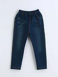 baratos -Para Meninos Jeans Sólido Primavera Outono Algodão Azul