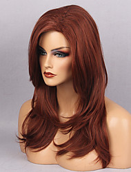 cheap -Synthetic Wig Wavy Natural Wave With Bangs Red Women's Capless Natural Wigs Long Synthetic Hair