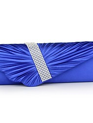 cheap -Women Bags Polyester Evening Bag Rhinestone Pleated Ruffles Chain for Wedding Event/Party Casual Formal Office & Career All Seasons Blue