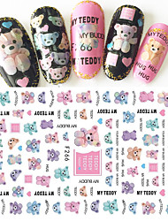 1pcs Fashion DIY Nail Art Lovely Doll Bear 3D Sticker Sweet Decoration Creative Fashion Individuality Text Design For Nail Beauty F266