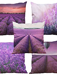 cheap -Set of 5  LavenderPattern Rayon Material Looks Like Silk Feeling Square Throw Pillow Cases Sofa Cushion Cover (18*18inch)
