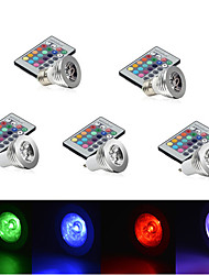 cheap -YWXLight 5pcs 3W E27/E14/GU10 RGB Color Changing LED Light Bulb Lamp with Remote Control(85-265V)