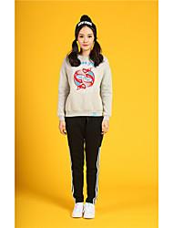 Sweatshirt Femme Sports Vacances Sortie Décontracté / Quotidien Course simple Chic de Rue Punk & Gothique Imprimé énorme Col Arrondi