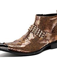 abordables -Hombre Zapatos Cuero de Napa Otoño Invierno Confort Innovador Botas de Moda Botas hasta el Tobillo Oxfords Botines/Hasta el Tobillo