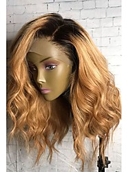 cheap -Human Hair Full Lace Wig Natural Wave 130% Density 100% Hand Tied African American Wig Natural Hairline Ombre Hair Short Medium Long
