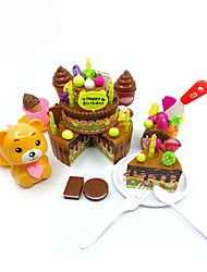 DIY KIT Educational Toy Toy Kitchen Sets Toy Foods Kids' Cooking Appliances Toys Toys Friut DIY Boys Girls' Pieces