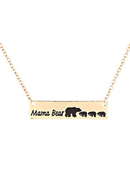 Sweet Family Mama and Baby Bear Necklace Gift for Family