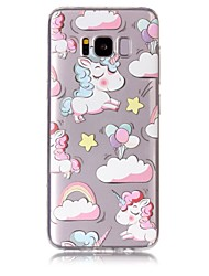 cheap -Case For Samsung Galaxy S8 Plus S8 Phone Case TPU Material Unicorn Pattern Painted Phone Case S7 Edge S7 S6 Edge S6