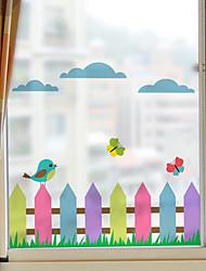 baratos -Art Deco Natal Adesivo de Janela, PVC/Vinil Material Decoração de janela Sala de Estar