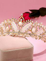 abordables -imitación perla rhinestone aleación tiaras diademas casco estilo elegante