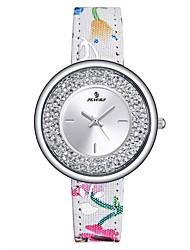 Mulheres Relógio Esportivo Relógio de Moda Relógios Femininos com Cristais Japanês Quartzo Impermeável Couro Legitimo Banda Casual Cores
