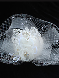 cheap -Chiffon / Lace / Rhinestone Flowers / Hair Clip with 1 Wedding / Special Occasion / Birthday Headpiece