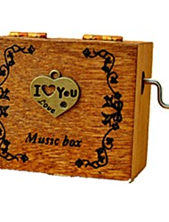 "cheap -Music Box Toys Retro 1 ¾""  Heart Plastics Wood Artistic/Retro Vintage Creative Retro Pieces Unisex Birthday Valentine's Day Gift"