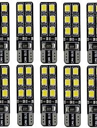 10pcs 2.4w bianco dc12v t10 12led 2835smd ha condotto la lampada auto decorativa della lampada dell'automobile delle lampade