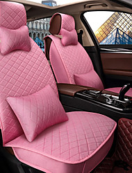 Car Seat Cushion Seat Cover Seat Four Seasons General Flax Surrounded By A Five Seat Family Car To Send 2 Head 2 Waist Pink