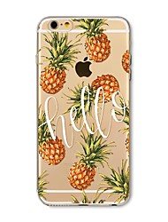 Case for iPhone 7 Plus 7 Cover Transparent Pattern Back Cover Case Fruit Tile Pineapple Soft TPU for Apple iPhone 6s plus 6 Plus 6s 6 SE 5s 5c 5 4s 4