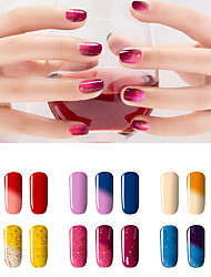 cheap -new colorful chameleon temperature uv gel polish nail lacquer 7ml 24 colors