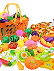 Недорогие -Игрушка кухонные наборы Игрушечная еда Ролевые игры Игрушки Овощи Ножи для овощей и фруктов Фрукт Овощи и фрукты моделирование Пластик