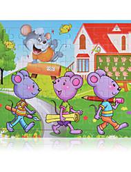 Недорогие -Пазлы Деревянные пазлы Строительные блоки Игрушки своими руками Мышь
