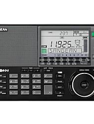baratos -ATS-909X FM Rádio portátil Radio FM / Alto Falante Embutido / Relogio Despertador Receptor do mundo Preto