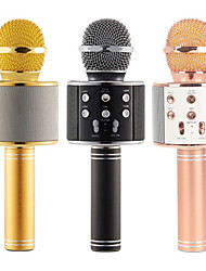 cheap -WS-858 Mic Karaoke Microphone Wireless headphone Mini Portable Wireless Bluetooth 4.1 bluetooth Speaker WS858 Outdoor KTV
