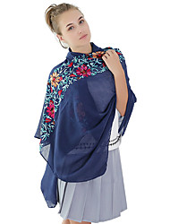 cheap -Women's Linen Fashion Cute Floral  Print Fall Winter Scarf  170*90cm