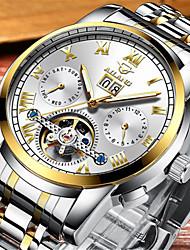 Per uomo orologio meccanico Carica automatica Resistente all'acqua Lega Banda Argento Oro Multicolore