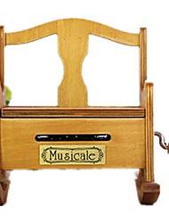 cheap -Music Box Wood Furniture Retro DIY Music Kid's Unisex Gift