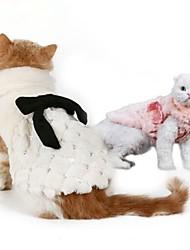 abordables -Gato / Perro Sudadera Ropa para Perro Un Color Blanco / Rosa Piel Artificial Disfraz Para mascotas Fiesta / Mantiene abrigado / Año Nuevo