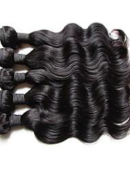 Оптовые 5pieces 500g много перуанских волос волдыря волос тела первоначально virgin человеческие волосы ткут естественный цвет волос могут