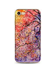 Capinha Para Apple iPhone X iPhone 8 Plus Transparente Estampada Capa Traseira Árvore Macia TPU para iPhone X iPhone 8 Plus iPhone 8