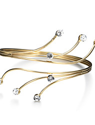 cheap -Lureme Women's Gold Swirl Upper with Crystal Thin Arm Cuff Armlet Armband Bangle Bracelet