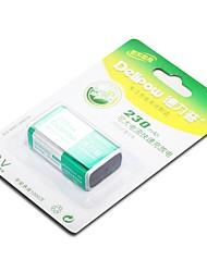 delipow аккумуляторная батарея 230mAh 9V 1200times перезаряжаемые