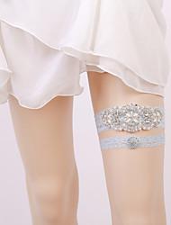 baratos -Elástico Aquecedores de Pernas / Festa / Casamento Wedding Garter Com Pedrarias Ligas