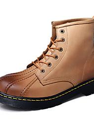 Masculino Botas Caminhada Conforto Pele Verão Outono Casual Combinação Rasteiro Salto Baixo Preto Marron 7,5 a 9,5 cm