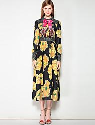 cheap -Mary Yan & Yu Women's Cute Street chic A Line Dress - Polka Dot Floral Shirt Collar