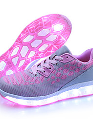 cheap -Women's Sneakers Light Up Shoes Fall Winter Tulle Outdoor LED Low Heel Blushing Pink Under 1in