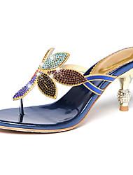 Недорогие -Жен. Обувь Искусственное волокно Лето Осень Удобная обувь Оригинальная обувь Сандалии Для прогулок На низком каблуке Оксфорды Стразы для