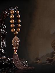 Diy automotive oro lega di legno di sandalo branelli auto perline ciondolo pendente auto&Ornamenti di legno