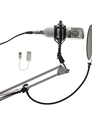 cheap -Professional 3.5mm Wired BM700 Condenser Sound Recording Microphone With Pop Filter Sound Card Stand Holder For Radio Braodcasting